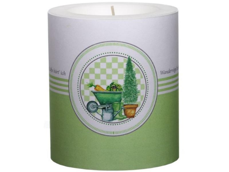 Wunderschöne Themen-Motiv Kerzen - Lampion Kerze - Ø100mm x H120mm Happy Gardeni