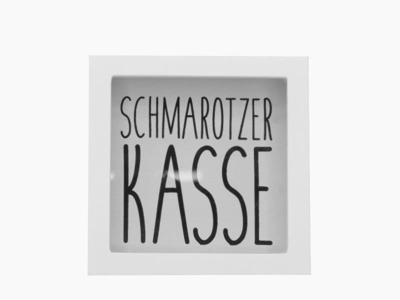 Spardose - Bilderrahmen - Sparbüchse - aus Holz und Glas - B15xH15xT5cm Schmarot