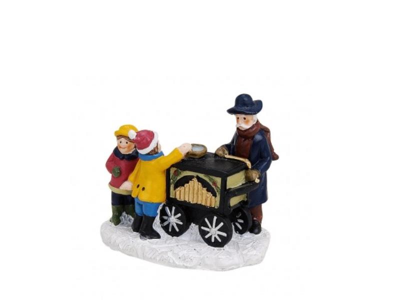 Weihnachtliche Miniatur-Figuren Winterwelt-Szene aus Poly B7 x T5 x H7 cm – Dreh