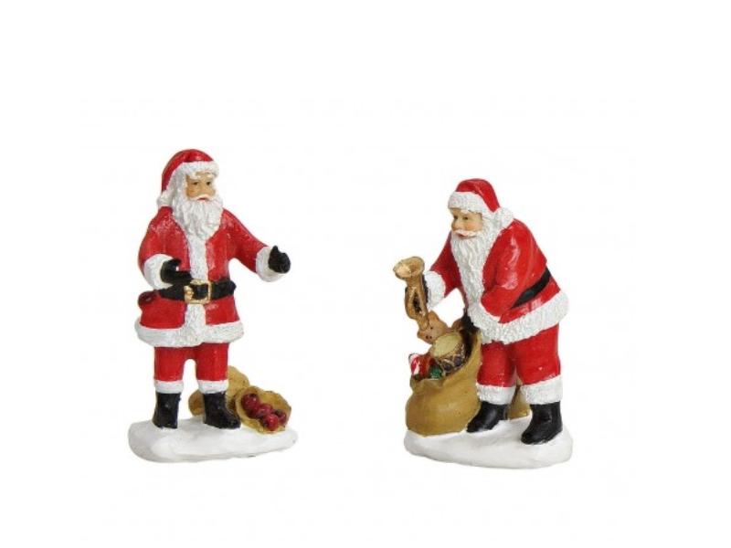 2 teiliges Set Weihnachtliche Miniatur-Figuren für ihre Winterwelt aus Poly - Ni