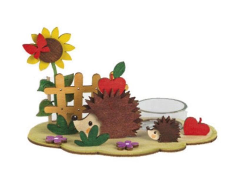Hobaku Bastelsets - Selbstbau-Sets -Erzgebirgische Holzkunst-Teelichthalter-16x1
