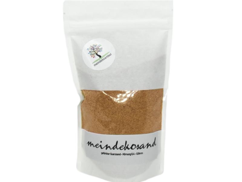 Farbsand - Quarzsand gefärbt 0,4 – 0,8mm – Dekosand – hergestellt in Deutschland