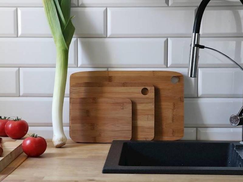 3er-Set Schneidebretter Küchenbretter aus Bambus