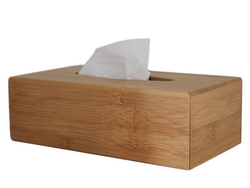 Bambus Tissue Box Taschentuchspender Kosmetiktuchbox trocken und sicher