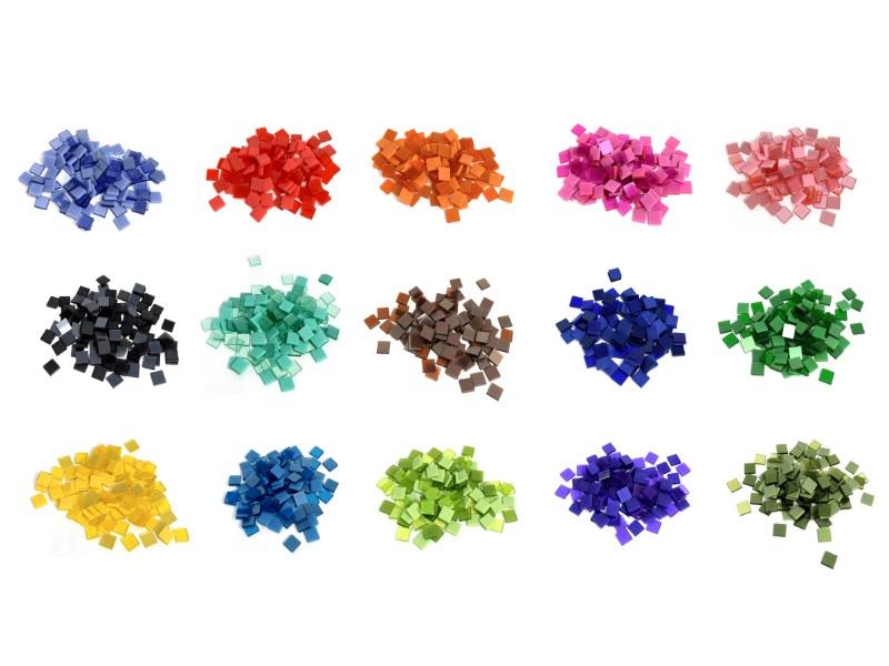 Mosaiksteine Mini-Mosaik Dekosteine Mini-Fliesen - 25g Beutel 10x10 mm
