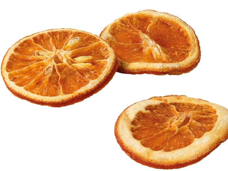 500 Gramm getrocknete Orangenscheiben ORANGE zum Basteln und dekorieren
