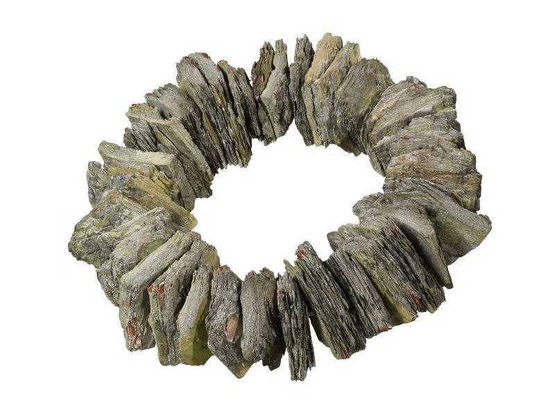Kranz aus Rinden Stücken gefrostet GRÜN Ø 30cm