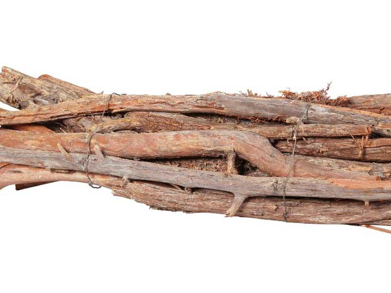 10 Stöcke gebunden Skinny Wood ORANGE L 50cm zum Gestalten und dekorieren