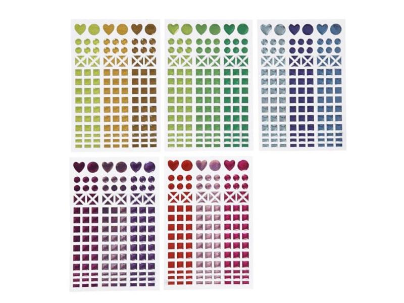 Mosaik-Sticker Ø 8-14 mm, 10 Blatt á 11x16,5 cm
