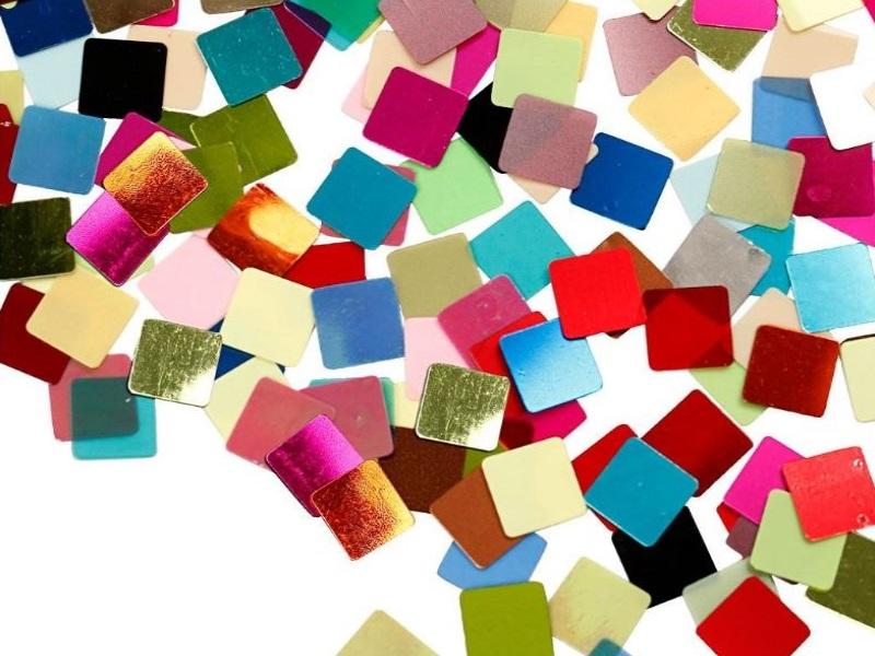Folienmosaik Mosaiksteine Größe 10x10 mm ca. 6875 Stück sortierte Farben 250g Pa