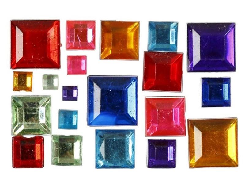 Strasssteine aus Kunststoff Mosaiksteine Größe 4-10 mm verschiedene Farben 1300S