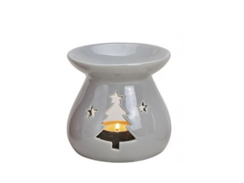 """Duftlampe """"emma"""" mit Tanne für Duftöl (grau) Ø10 x H10cm"""