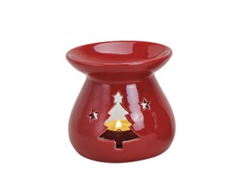 """Duftlampe """"emma"""" mit Tanne für Duftöl (rot) Ø10 x H10cm"""