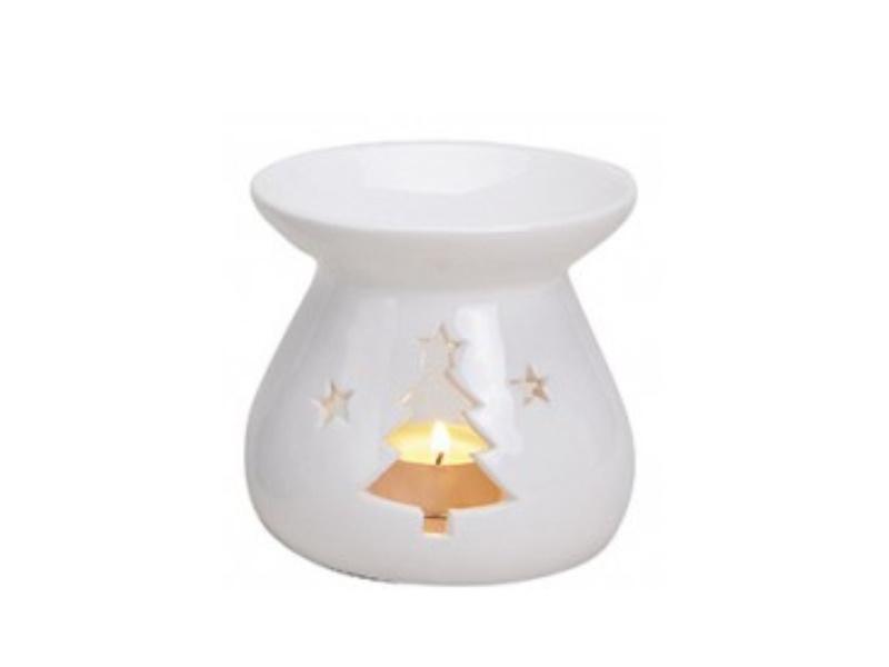 """Duftlampe """"emma"""" mit Tanne für Duftöl (weiss) Ø10 x H10cm"""