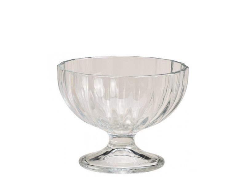 2er Set Eisbecher Dessertschale Alaska aus Glas 260ml Ø10xH9cm